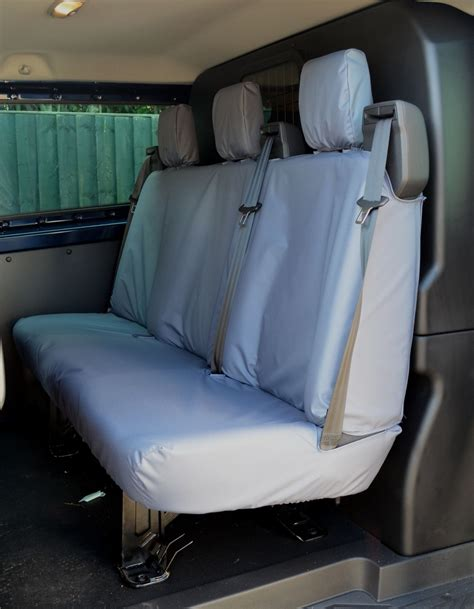 van bench seat covers ford transit custom 2013 double cab in van dciv tailored
