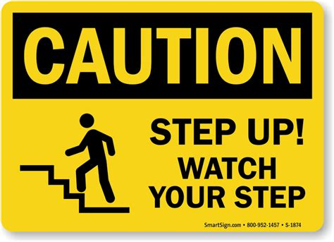 up your signs step up your step osha caution sign sku s 1874 mysafetysign