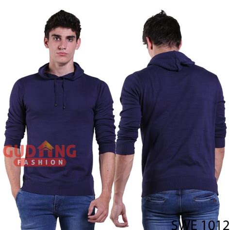 Sweater Casual Simple Pria Swe 1013 cardigan sweater pria rajut dongker swe 1012 gudang fashion
