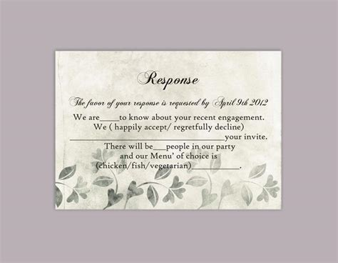 diy rsvp wedding cards template diy rustic wedding rsvp template editable word file