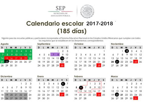 Calendario Escolar 2017 18 Mexico Calendario Escolar 2017 2018 Diario Educaci 243 N