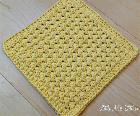 pattern crochet dishcloth little miss stitcher 5 free crochet dishcloth patterns