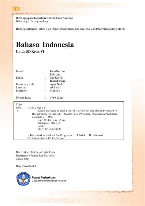bahasa indonesia kelas vi sd bahasa indonesia umri nuraini