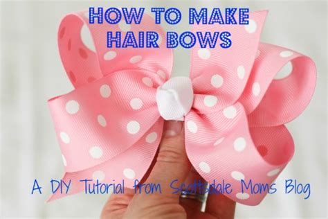 how to make hair bows a diy tutorial