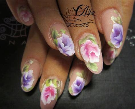 easy nail art one stroke one stroke nail art nail art gallery