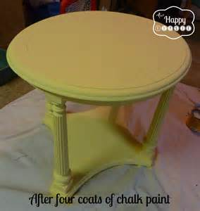 Pinterest Pictures Of Yellow End Tables With Gray by Mellow Yellow Diy Chalk Paint Side Table The Happy Housie