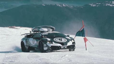 Jon Olsson Lamborghini Jon Olsson Drives His Lambo Up A Glacier Because Why Not