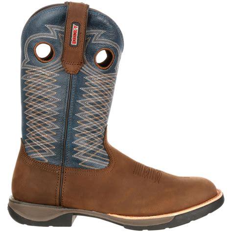 comfortable mens cowboy boots rocky lt s comfortable lightweight blue western boot