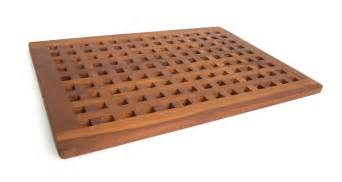 Wooden Floor Mats For Bathroom Solid Teak Grate Bath Shower Mat Teak Patio Furniture World