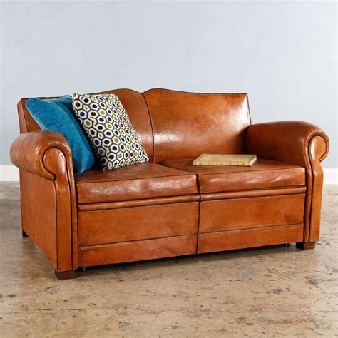 art deco leather sofa french art deco leather club sofa at 1stdibs