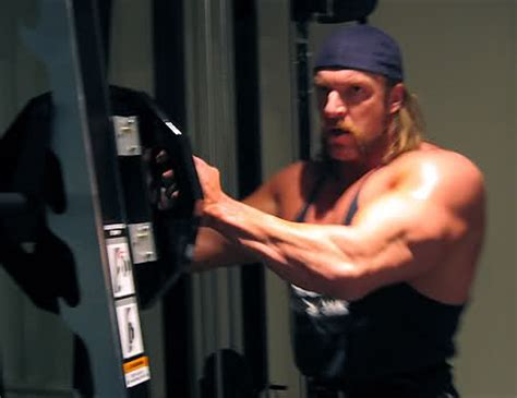 hhh bench press triple h workout and diet secret muscle world