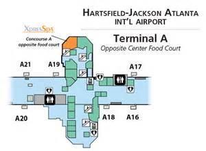 Map Atlanta Airport by Atlanta Airport Map Delta Gates