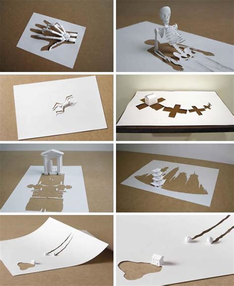 Paper Cut Crafts - 12 complex 3d sculptures cut from single sheets of paper