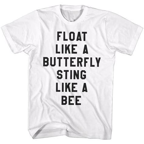 tshirt kaos float like a butterfly muhammad ali shirt float like butterfly sting like a bee