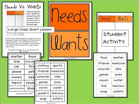 kindergarten activities needs and wants 13 best wants needs images on pinterest kindergarten