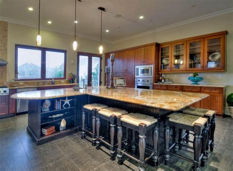 large kitchen island with seating and storage home kitchen