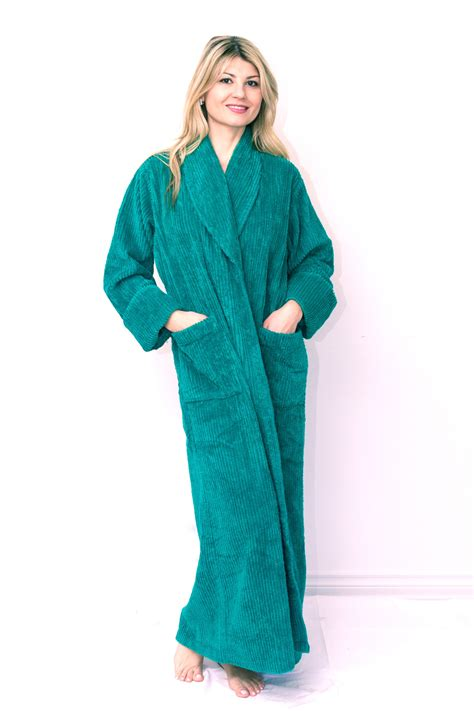 full length bathrobe ribbed style full length chenille robe