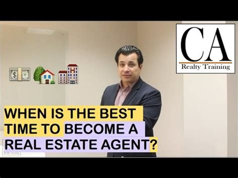 become a realtor ep 11 when is it the best time to become a real estate