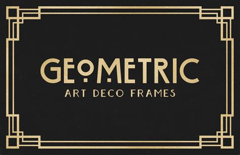 Corner Photo Frames geometric art deco frames medialoot