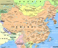 Detailed Map of China Cities