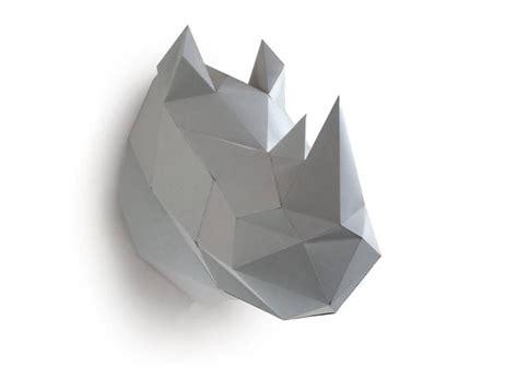 Rhinoceros Origami - troph 233 e rhinoc 232 ros gris assembli 29 les esth 232 tes