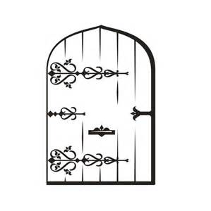 Fairy door colouring pages