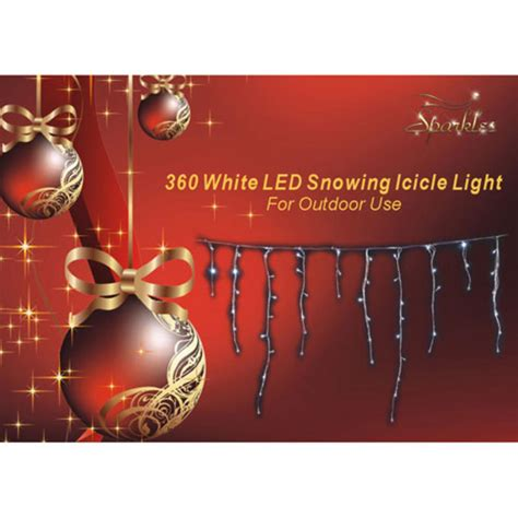 360 multi function led white snowing icicle lights