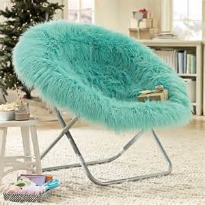 Pool fur rific faux fur hang a round chair pbteen