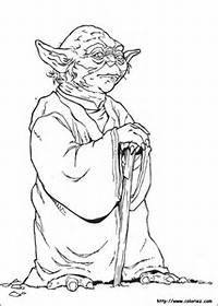 COLORIAGE  Star Wars Yoda