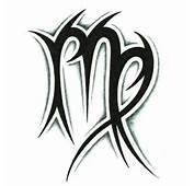 Beautiful Tribal Zodiac Virgo Tattoo Design  Tattooshuntcom
