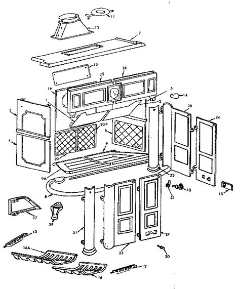 kenmore sears franklin fireplace parts model 311846800