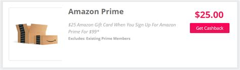 Can I Pay For Prime With A Gift Card - topcashback signup for new amazon prime account and get 25 amazon giftcard doctor