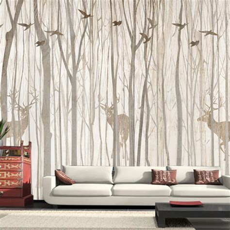 Tree Design Wallpaper Living Room by Europe Bird Tree Mural Wallpaper 3d Waterproof Living Room