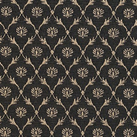 black floral upholstery fabric b642 black floral trellis woven jacquard upholstery