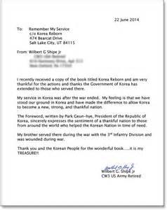 Appreciation Letter Vet letter thank you letter to veterans samples client thank you letter