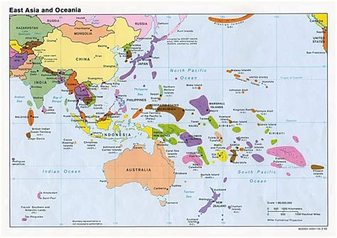 big map of asia large political map of east aisa and oceania with capitals