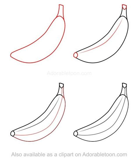 tutorial menggambar owl how to draw a banana how to draw pinterest fruit