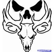 How To Draw A Deer Skull Tattoo Step 7jpg