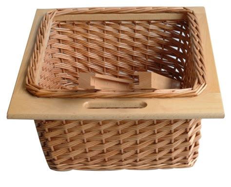 Pull Out Basket Drawers by B Q It Kitchens Pull Out Wicker Basket Drawer Beech