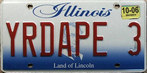 Vanity Plates Illinois illinois 3