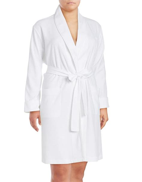 waffle knit robe lord waffle knit robe in white lyst