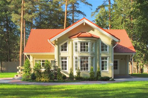 photo villa lappi wooden house from finland photo