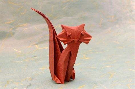 Cat Origami - origami cats 5 gilad s origami page