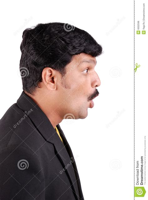 fotos para perfil homem perfil do homem surpreendido fotos de stock royalty free