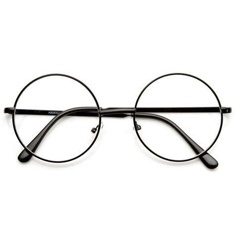 Big Lennon Clear Frame Kacamata vintage lennon inspired clear lens frame glasses