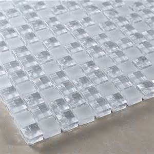 white transparent scrub ice crystals stereo water ripple glass mosaic r217 modern wall and
