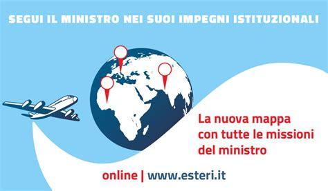 Sul Pasport Transparant nuova mappa sugli incontri dell on ministro on line sul sito della farnesina