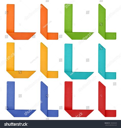 Origami Letter L - set of capital letter and lowercase letter quot l quot in various
