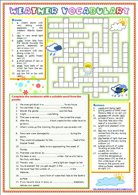 hurricane worksheet answers around the world in weather vocabulary worksheet