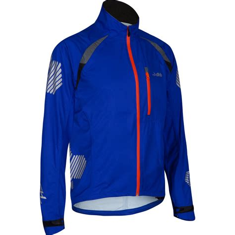 blue cycling jacket wiggle com dhb flashlight compact xt waterproof jacket